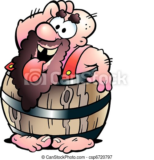Man in a Beer Barrel - csp6720797