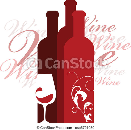 wine and glass vector design template - csp6721080