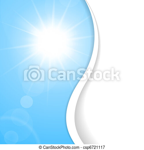 Blue Summer background with place for your content - csp6721117