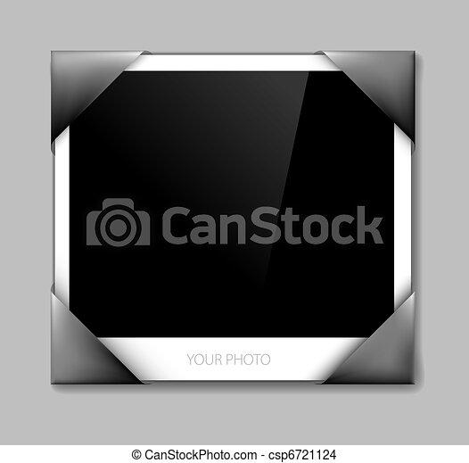 Empty photo in photo holder - csp6721124