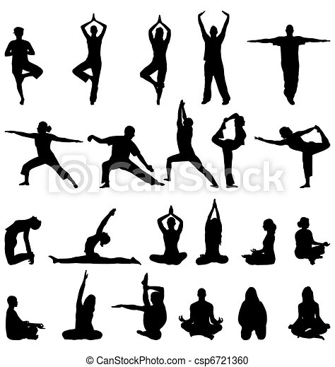 meditation silhouettes - csp6721360