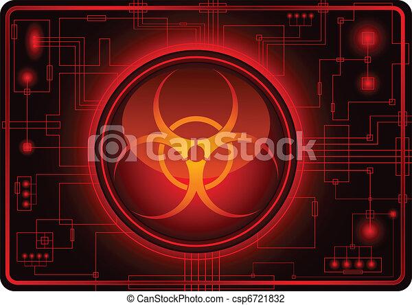 Biohazard sign - csp6721832