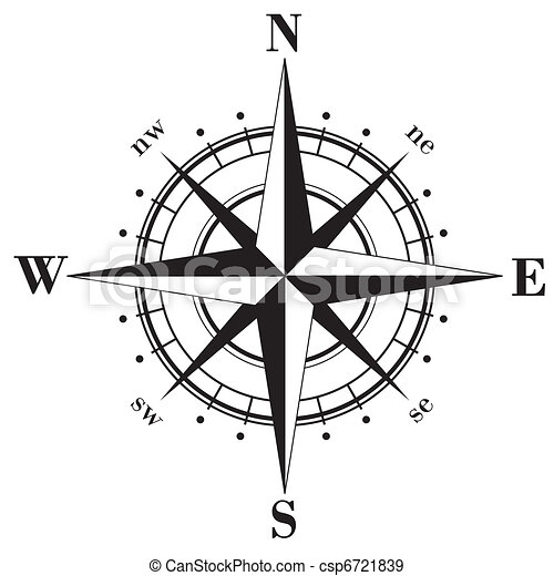 Compass Rose Drawing Compass Rose Black Compass
