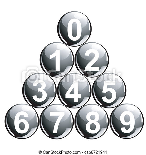 Balls with numbers - csp6721941