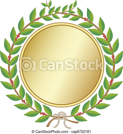 Laurel wreath with medal - csp6722181