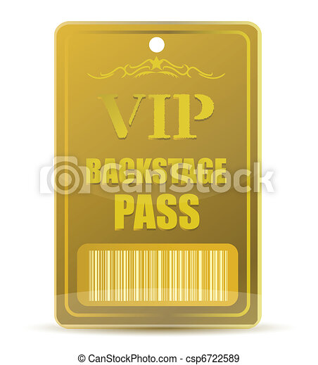 Gold VIP backstage pass - csp6722589