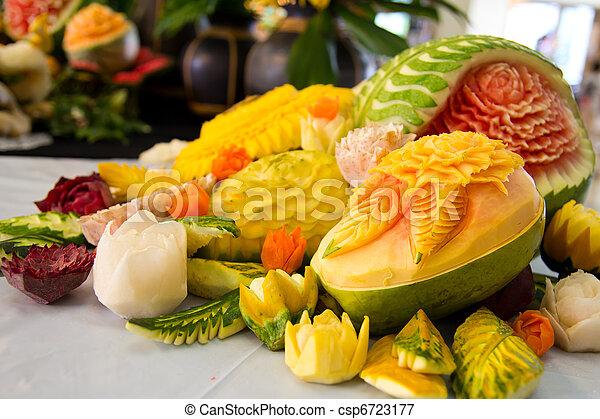 Fruit carving - csp6723177