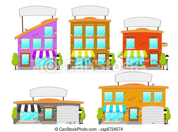 Cartoon Boutique Building Series - csp6724574