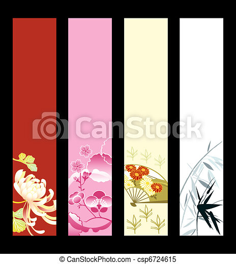 Asian art banners - csp6724615