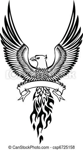 Phoenix and emblem - csp6725158