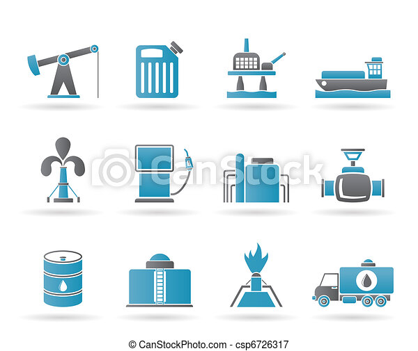 Oil and petrol industry icons - csp6726317