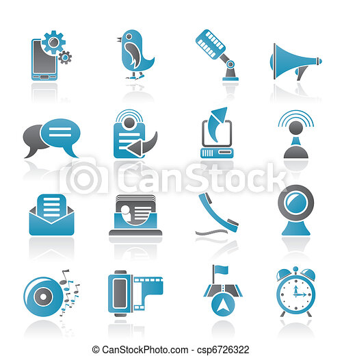 Mobile Phone and communication  - csp6726322