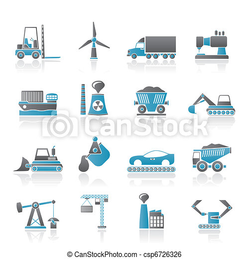 Business and industry icons - csp6726326