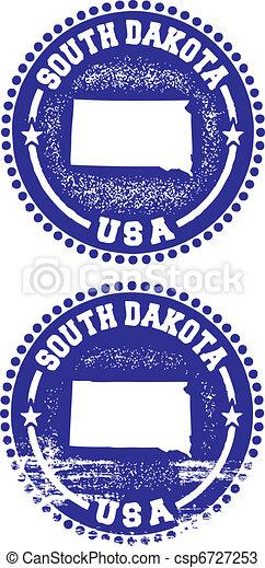 South Dakota USA Stamps - csp6727253