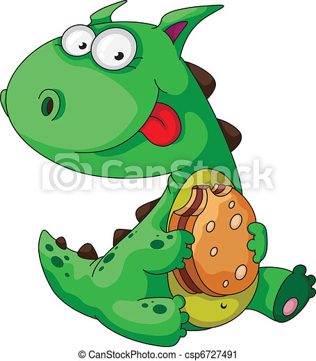 dinosaur eating - csp6727491