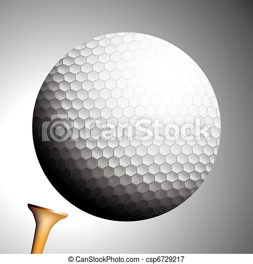 Golf Ball Launches Off Tee - csp6729217