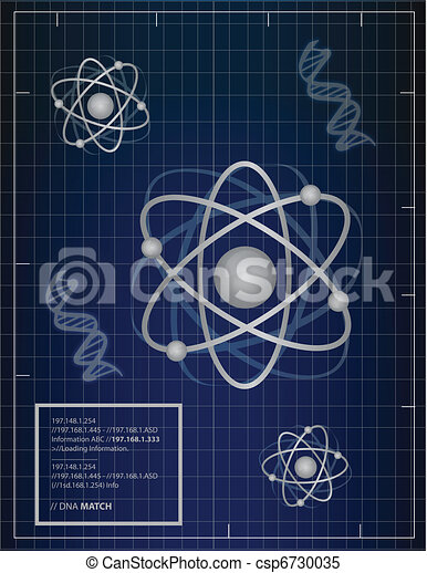Atoms and DNA matching background - csp6730035
