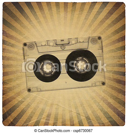 Vintage music abstract background - csp6730067