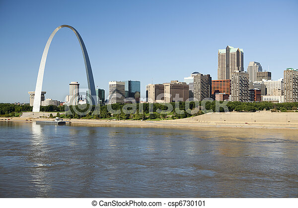 St Louis, skyline photography - csp6730101