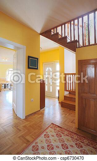 House entrance hall  - csp6730470