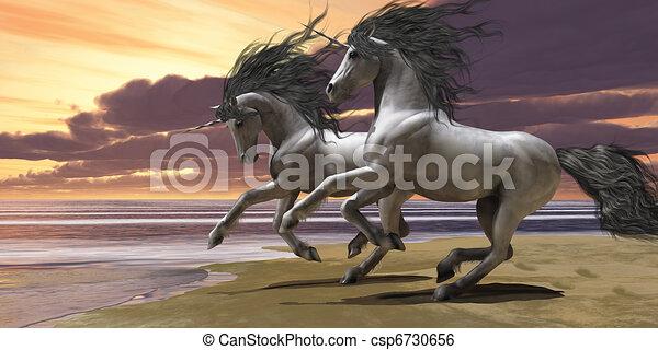 Playing Unicorns Part 1 - csp6730656