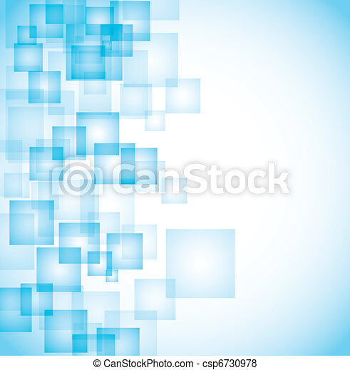 abstract blue squares background - csp6730978