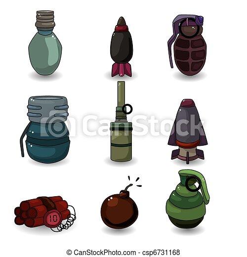 cartoon Explosive icon set  - csp6731168