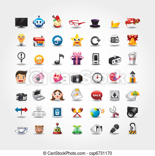 Internet & Website icons, Web Icons, icons Set - csp6731170