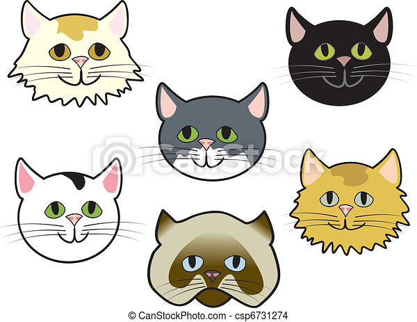 Kitty Faces - csp6731274