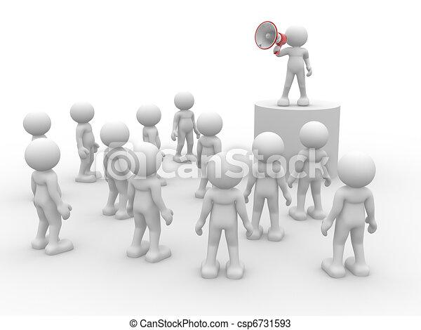 Speaking at megaphone - csp6731593