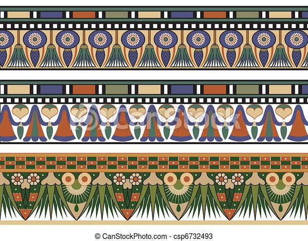Set of three Egyptian border - csp6732493