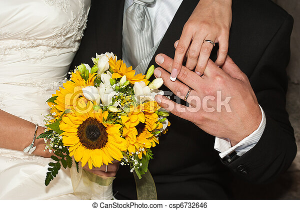 Married whit bouquet