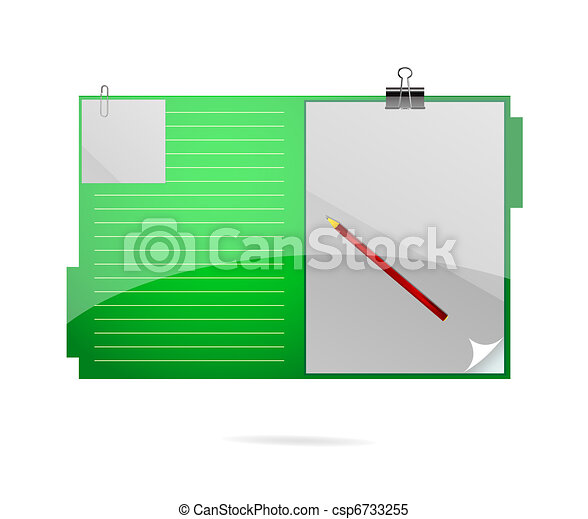 office folder symbol green color - csp6733255