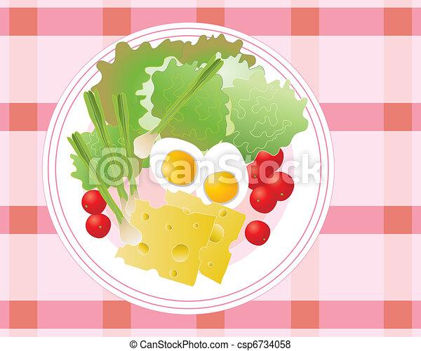 salad plate - csp6734058
