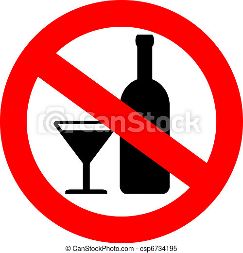 Vector no alcohol sign - csp6734195