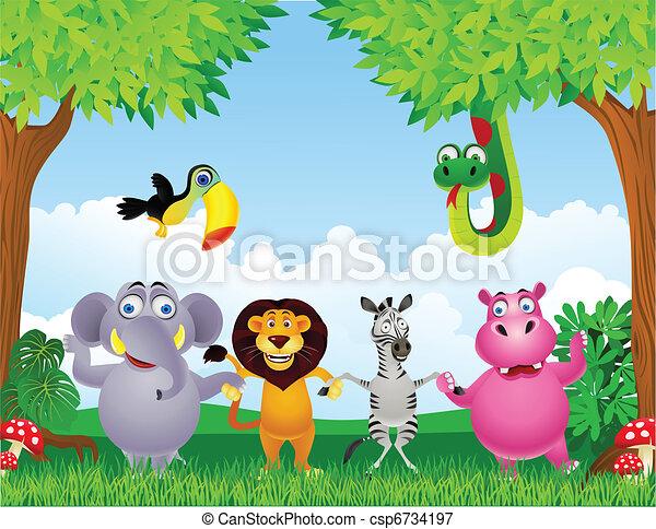 Animal cartoon - csp6734197