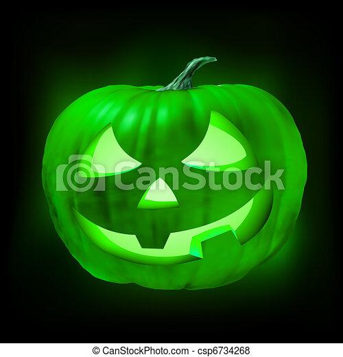 Halloween jack o lantern pumpkin. EPS 8 - csp6734268