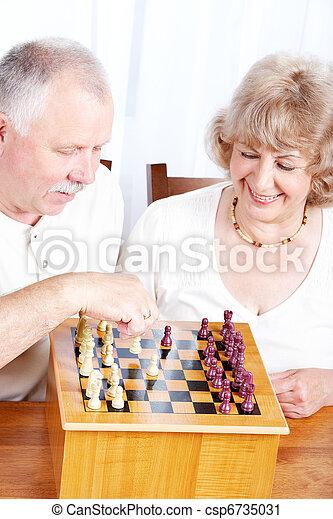 Elderly couple. - csp6735031