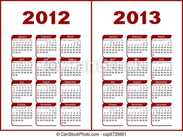 Calendar 2012,2013. - csp6735661