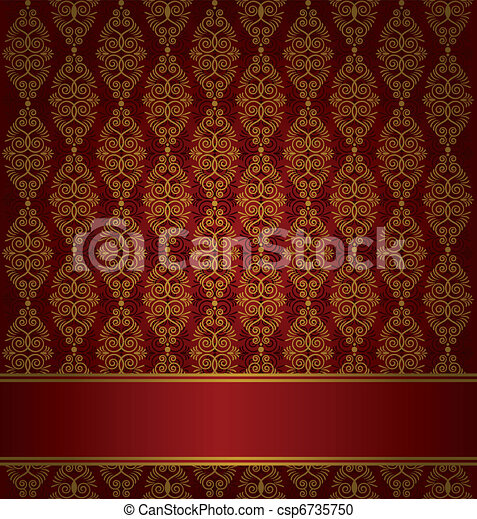 Vector Clipart Of Seamless Gothic Background Luxury