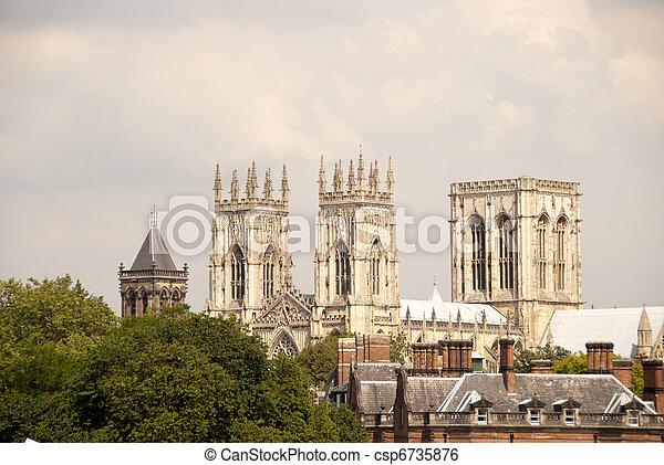 Three Towers of York Minster - csp6735876