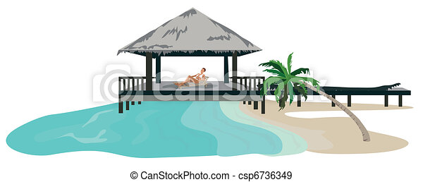 Vacation in the Tropics  - csp6736349