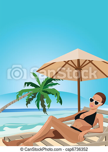 Vacation in the Tropics  - csp6736352