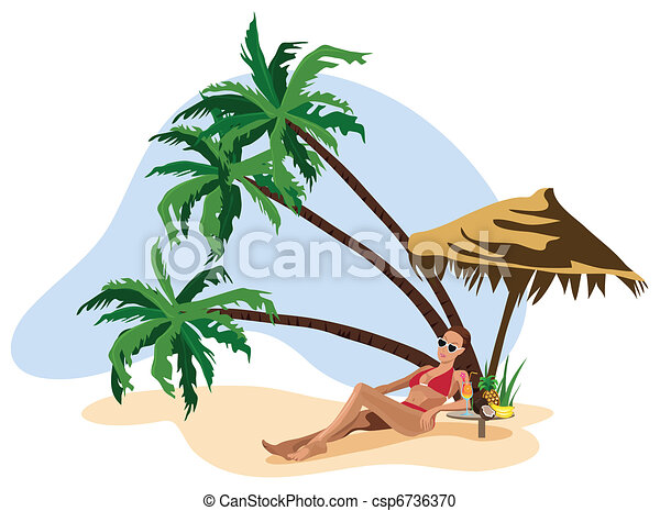Vacation in the Tropics  - csp6736370