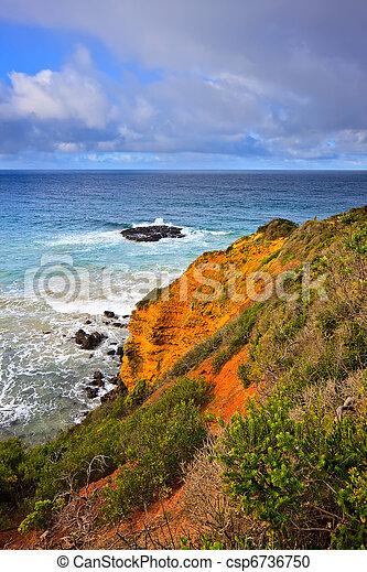 Ocean coast, Great Ocean Road - csp6736750