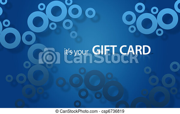 Blue object Giftcard - csp6736819