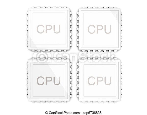 Quad Core Logo Quad Core Cpu Csp6736838