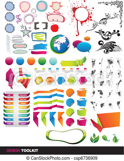 Designer's toolkit vector elements - csp6736909