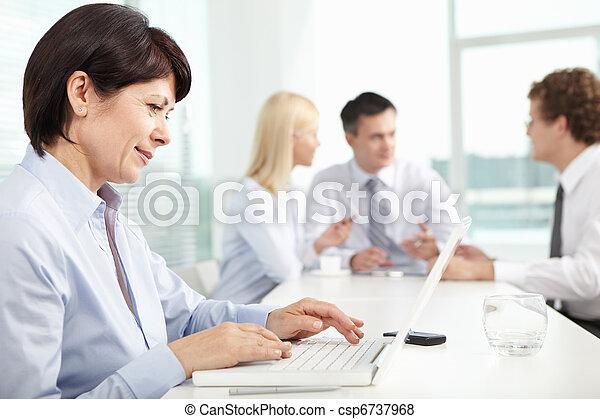 Secretary typing - csp6737968