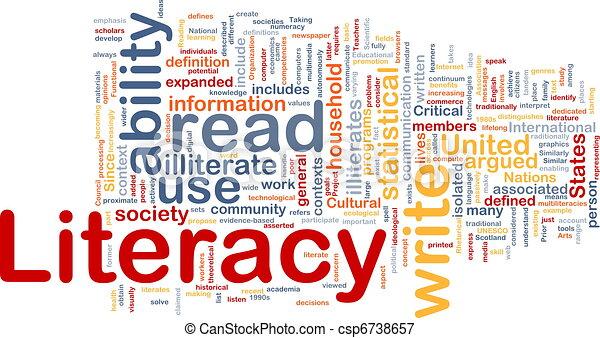 Literacy background concept - csp6738657